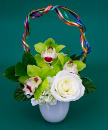 Have a little fun and maybe find the leprechaun's gold at the end of the rainbow. Celebrate St. Patrick's Day by sending our Over the Rainbow arrangement.