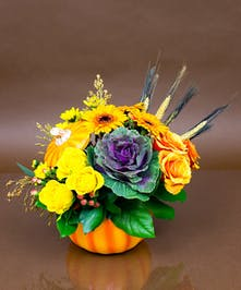 Autumn Pumpkin Arrangement - Same day delivery to Danvers, MA