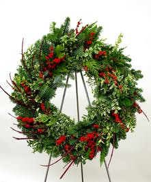 Berries and Branches Evergreen Wreath