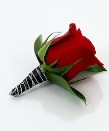 Red Rose Boutonniere - Same Day Delivery, Danvers MA