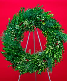 Boxwood Splendor Evergreen Wreath