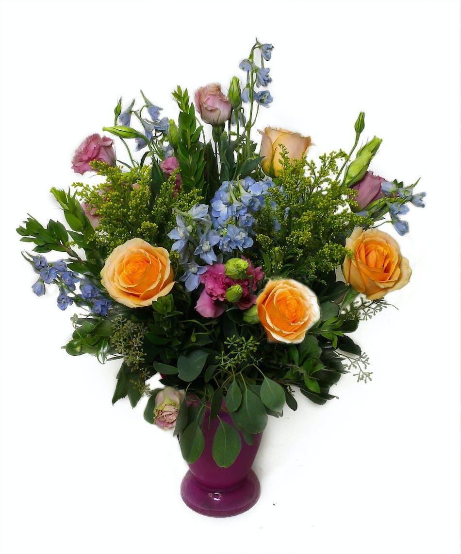Pink garden vase birthday flowers currans flowers pink garden vase birthday flowers izmirmasajfo