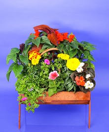 Cemetery Basket 14 inch - Same Day Delivery, Danvers, MA