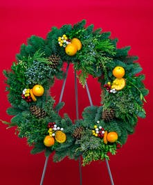 Citrus Evergreen Wreath