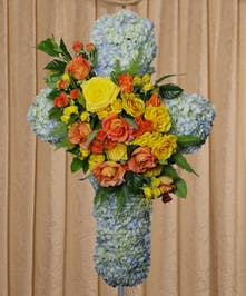 Colorful Hydrangea Cross