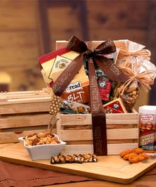 Dad's Favorites Premium Nuts & Snacks Crate - Same Day Delivery, Danvers, MA
