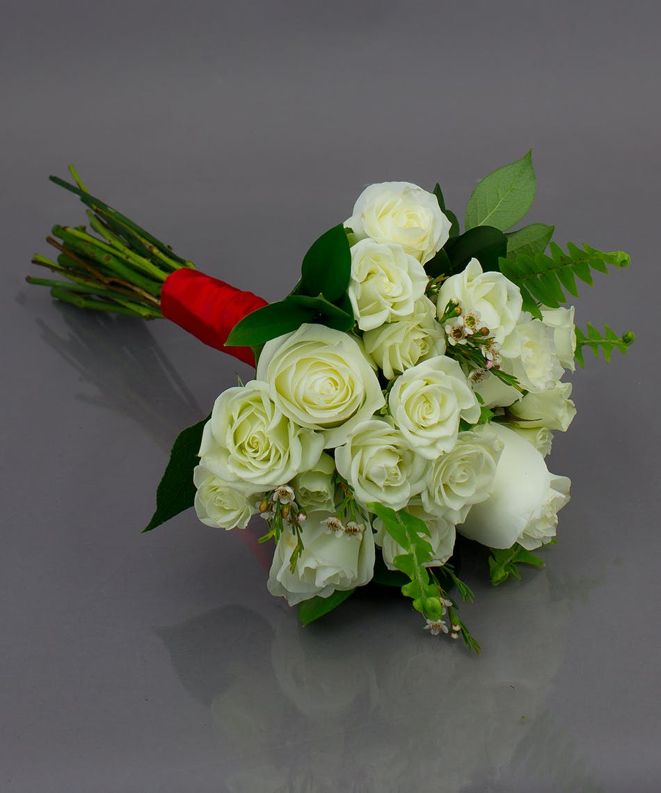 White Prom Bouquet Danvers & Beverly (MA) Currans Flowers