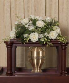 Elegant White Urn Cover - Danvers, MA