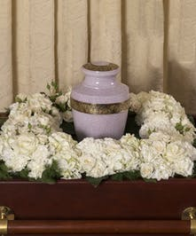 Elegant White Square Urn Wreath - Danvers, MA