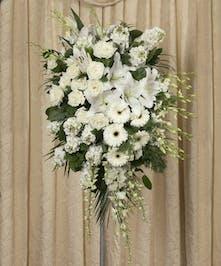 Elegant White Standing Spray - Danvers, MA