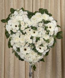Elegant White Heart - Danvers, MA