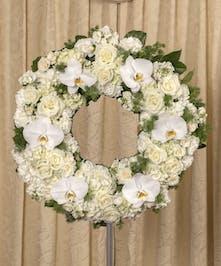 Elegant White Wreath - Danvers, MA