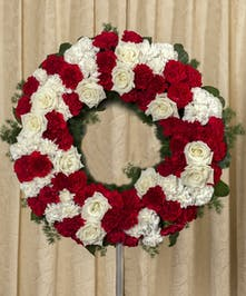 Red and White Wreath