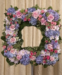 Soft Colored Square Wreath