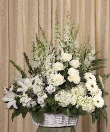 Elegant White Wicker Basket - Danvers, MA