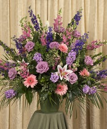 Soft Colored Funeral Basket