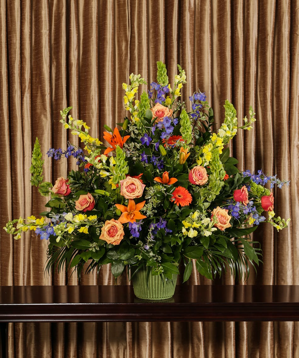 Glowing Tribute Funeral Basket Same Day Delivery Danvers Ma