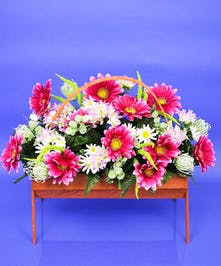 Cemetery Basket Artificial Pastels - Same Day Delivery, Danvers, MA