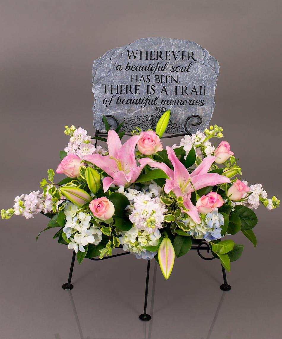 Trail Of Memories Memorial Display Currans Flower Same Day