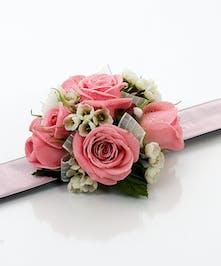 Pink Rose Wristlet on Pink Slap Bracelet - Same Day Delivery Danvers, MA
