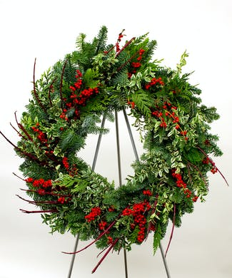 Berries & Branches Evergreen Wreath