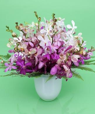 Bountiful Orchid Vase