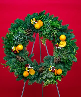 Citrus Evergreen Wreath
