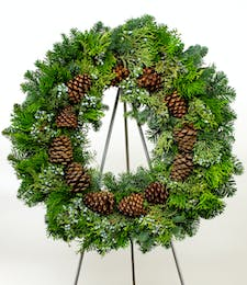 Multicone Evergreen Wreath