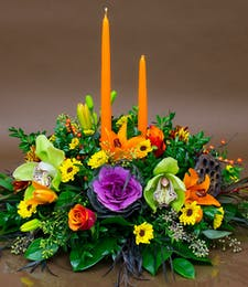 Double Candle Thanksgiving Centerpiece