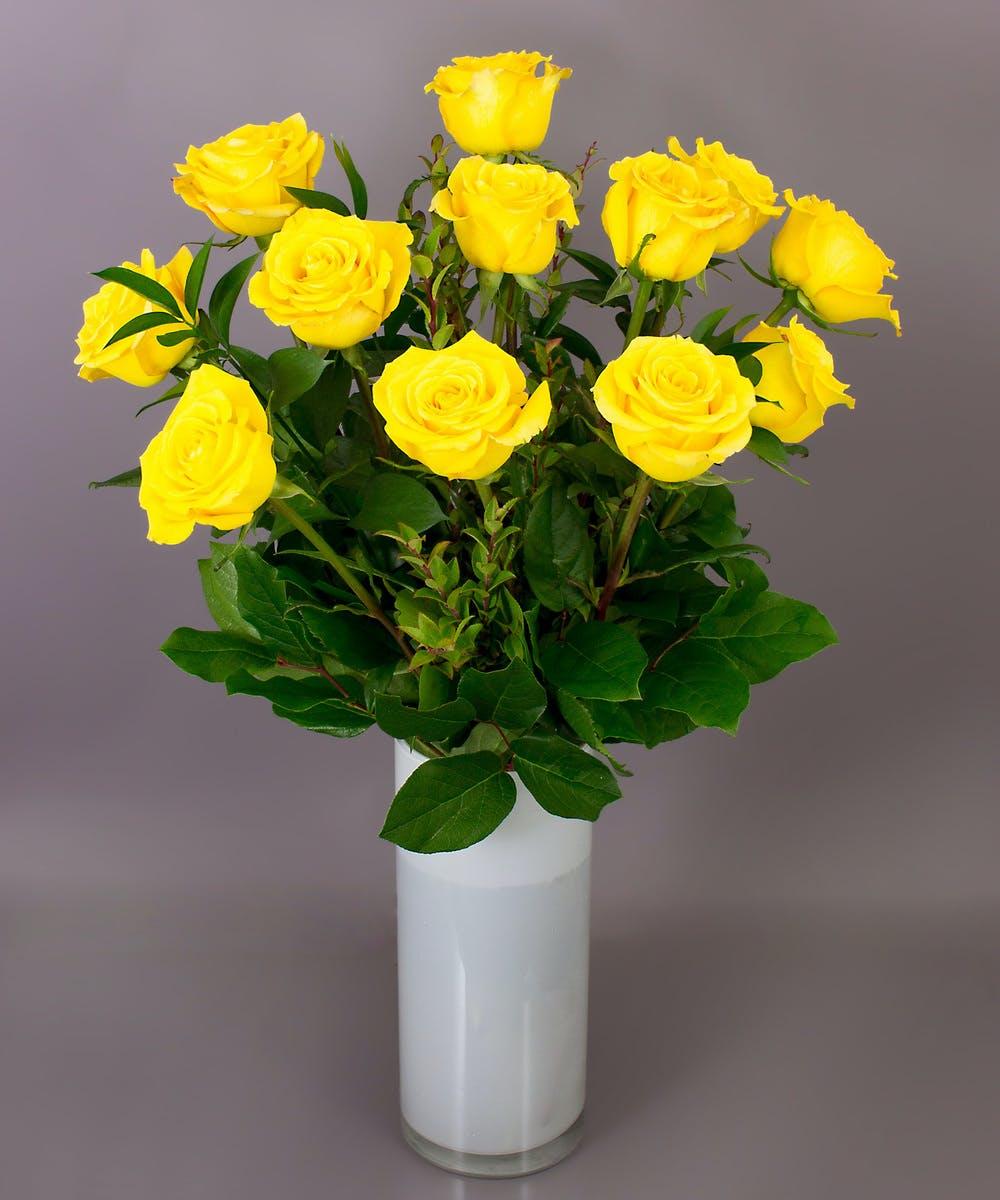 Roses Stemmed Long Yellow Long Yellow Stemmed lJTKcF1