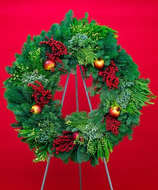 Pomegranate Evergreen Wreath